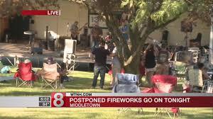 Postponed fireworks in Middletown go on Sunday night - YouTube