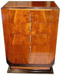 this is a superb 1930s art deco walnut chest of 5 drawers with a modernist feel art deco furniture cabinet