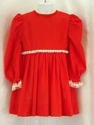 <b>Red White Lace</b> Trim Long <b>Puff</b> Sleeve Pleats Holiday Dress 12-24 ...