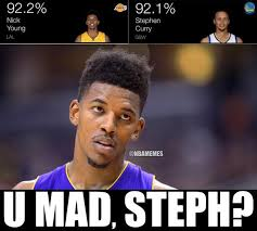 "NBA Memes on Twitter: ""Nick Young vs. Steph Curry. #TheSwagIsReal ... via Relatably.com"