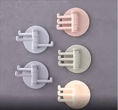 Seamless Adhesive <b>Hook Rotatable</b> Strong Bearing Stickers <b>Hook</b> ...