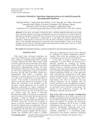 (PDF) An Iterative Method for Algorithms Implementation on a ...