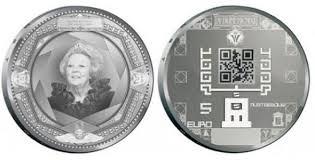 QR код на монете