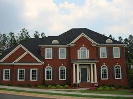 Dutch Colonial House Plans Traditional Red Brick Wall Interior        New Brick Home In Dallas With Full Basement Atlanta New Homes Red Brick House Designs