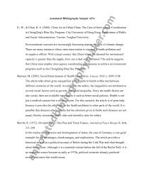 Apa Annotated Bibliography Sample Paper   Cover Letter Templates Pinterest