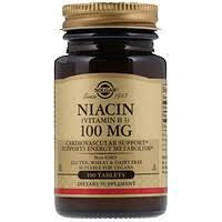 Solgar, <b>Ниацин</b> (витамин В3), <b>100 мг</b>, <b>100</b> таблеток - iHerb