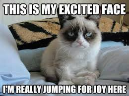 Grumpy Cat meme #GrumpyCat This is your bored face @Linda ... via Relatably.com