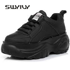 SWYIVY Shoes Woman High Platform Sneakers <b>2019 Spring</b> ...