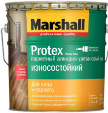 <b>Лак</b> Паркетный Marshall <b>Protex</b> Parke 0.75л <b>Алкидно</b>-<b>Уретановый</b> ...