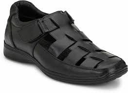 EEGO ITALY Genuine <b>Leather Comfy</b> Sandals <b>Men</b> Black Casual ...