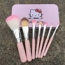 7pcs newest pink o kitty makeup brush set mini size professional cosmetics make up brushes set
