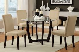 dining room pub style sets: modern minimalist dining room spaces with pub style dining room sets and glass top dining table with wooden leg plus  white fabric dining chairs seats