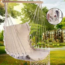 Swing Chair <b>Hammock</b> Hanging Seat Rope Porch Patio Garden ...