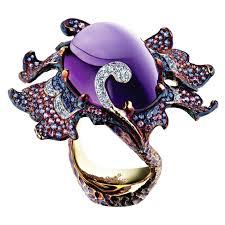 Эксклюзивное <b>кольцо</b> Дельфиниум с <b>аметистом</b> Flowers Hx1 130 ...