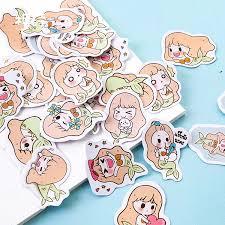 <b>45Pcs</b> Stickers <b>Set</b> Lovely <b>Mermaid</b> Sticker DIY Journal Diary ...