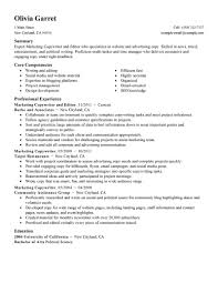 marketing resume examples marketing sample resumes livecareer copyeditor resume example