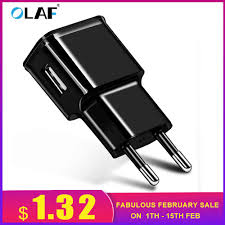 <b>Olaf 1 USB</b> Charger 5V1A 5V2A USB Travel Charger Wall Charger ...