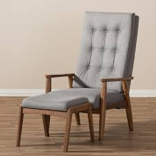 wholesale interiors baxton studio rio upholstered lounge chair and ottoman baxton studio lounge chair