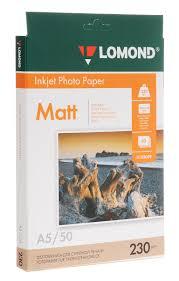 <b>Фотобумага LOMOND</b> Одностороняя Матовая, <b>230г</b>/<b>м2</b>, <b>A5</b> ...