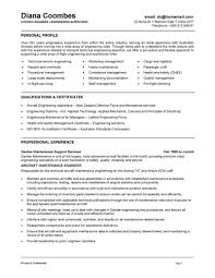 engineer resume aircraft engineer resume