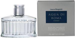 <b>Laura Biagiotti Aqua</b> Di Roma Uomo Eau de Toilette for Men 75 ml ...