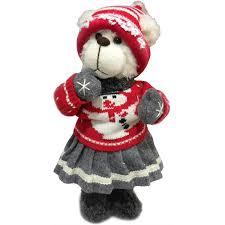 <b>Фигурка декоративная</b> «Медвежонок и Рождество», 40 см в ...