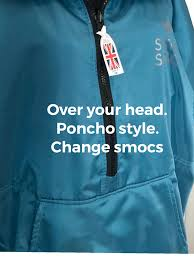 £135.99 OVER YOUR HEAD <b>PONCHO STYLE</b> eco smoc. BACK IN ...