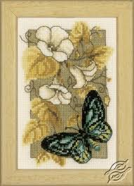 Butterfly on Flowers II - Cross Stitch Kits by <b>VERVACO</b> - PN-0144802