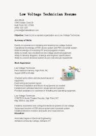 low voltage technician resume sample use this sample low low voltage technician resume sample use this sample low voltage technic