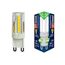 Светодиодная <b>лампа LED</b>-<b>JCD</b>-<b>5W</b>/<b>4000K</b>/<b>G9</b>/<b>CL</b> GLZ09TR ...