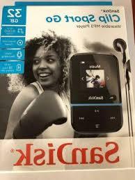 SanDisk 32GB Clip <b>Sport</b> Go <b>MP3</b> Player LED Screen and FM Radio ...