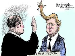 Trump Inaugural by Political Cartoonist Mike Luckovich via Relatably.com