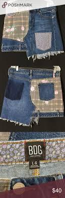 Urban Outfitters BDG Floral Patchwork Denim Skirt Unusal BDG ...