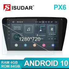 Isudar <b>1 Din</b> 10.1 inch <b>Android 10</b> Radio For VW/Skoda/Octavia 2014