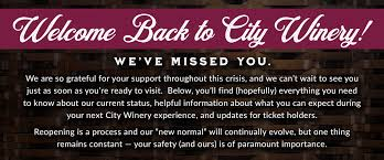City Winery Guest Safety - Chicago