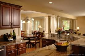Small Picture Pictures of Kitchens Traditional Dark Wood Kitchens Cherry Color