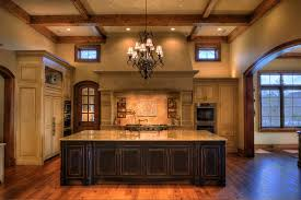 inspired kitchen cdab white brown: kitchen with exposed beams kitchen rustic with coffered ceiling open kitchen kitchen island