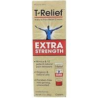 MediNatura, Natural <b>T</b>-<b>Relief</b>, <b>Pain Relief Cream</b>, Safe Relief, 4 oz ...