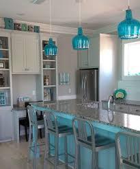 beachy blue kitchen blue kitchen island and blue glass pendant lights blue pendant lighting