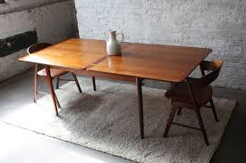 wood extendable dining table walnut modern tables: simple classic rectangular extendable dining table in gloss finish