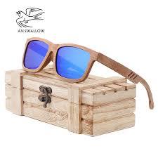 AN SWALLOW Beech <b>Wood Men Sunglasses</b> Polarized Wooden ...