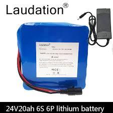 <b>laudation</b> 24V 12AH <b>lithium battery</b> 24V 12800mah 6S 4P motor ...
