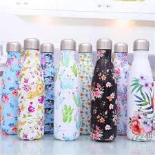 Flamingo Floral <b>BPA</b> free <b>Water Bottle</b> Stainless Steel Beer Tea ...