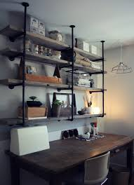 Diy Kitchen Wall Shelves Industrial Rustic Shelf Tutorial Workspace Home Pinterest