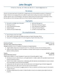 resume for substitute teacher resume templates substitute teacher resume for substitute teacher 0758
