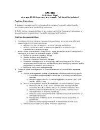 high end retail resume s lewesmr duties cashier job description gallery of cashier job description for resume