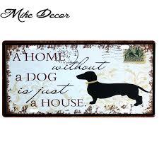 [ <b>Mike86</b> ] A HOME DOG License Plate Room Art Retro Metal plaque ...