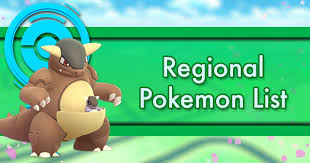 Regional Pokemon List | Pokemon GO Wiki - GamePress