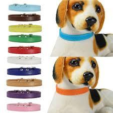 <b>Safe</b> PU Leather Pet Dogs <b>Cat</b> Solid <b>Soft</b> Collars Kitten Neck Strap ...