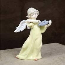 Винтажная фарфоровая статуя <b>ангела</b>-арфы, керамическая ...